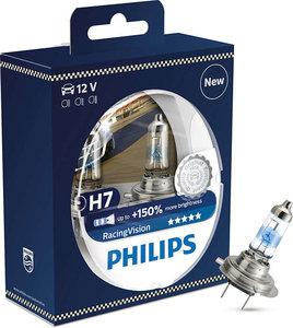 Ampoule Philips H7 RacingVision +150% 12972RVS2 Set de 2 - 24,95 €